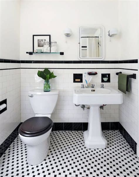 Black And White Tile Bathroom Decorating Ideas 31 Retro Black White Bathroom Floor Tile Ideas And Pictures Decorating Pinterest Black