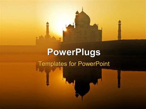 indian templates for powerpoint powerpoint template dawn at the taj mahal in agra