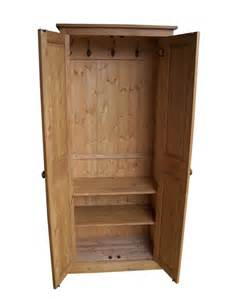 Details about hall cupboard coat shoe hat bag storage with coat hooks
