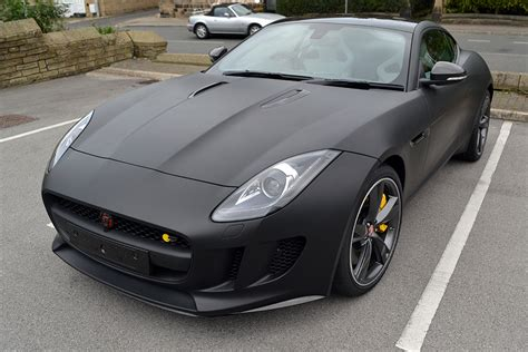 matte black f type by jaguar wrapped in matte black reforma uk