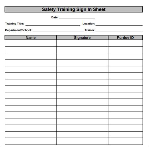Safety Meeting Sign In Sheet Template by Search Results For Safety Meeting Sign In Sheet