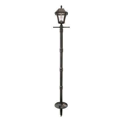 solar outdoor post lights post lighting outdoor lighting the home depot