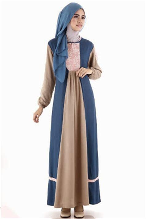 Baju Gamis Wanita Busana Muslim Terbaru Gareu Gkl8905 kumpulan foto model baju gamis terbaru 2015