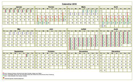 Calendrier 2018 Vacances Scolaires à Imprimer Calendrier 2018 Annuel 224 Imprimer Avec Les Vacances