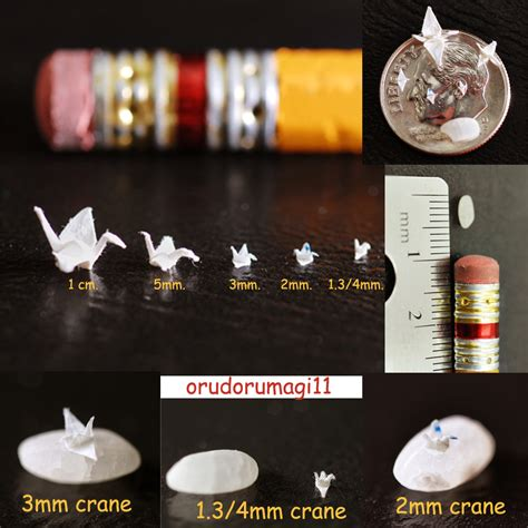 Smallest Origami Crane - miniature cranes 2 by orudorumagi11 on deviantart