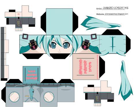 Papercraft Anime Templates - má i k 237 ch thæ á c miku animepapertoys flickr â chia sáº