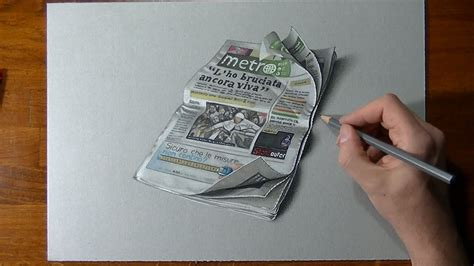 How To Make A Realistic Paper - realistic drawing metro newspaper