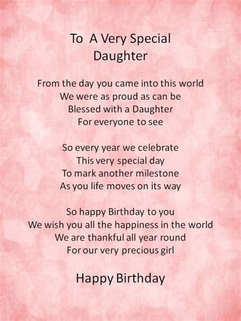 Birthday Quotes From Mothers To Daughters Happy Birthday Poems From Daughter Http Www