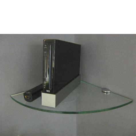 Corner Shelf Kit by Glass Corner Shelf Kit 300x300x8mm Mastershelf