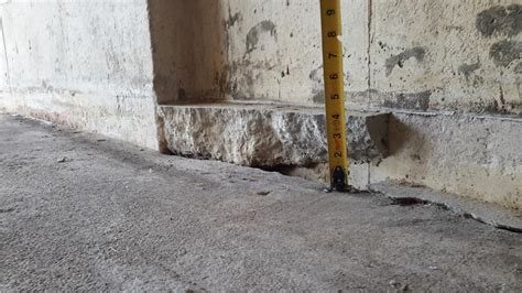 Concrete Garage Floor Sinking concrete lifting and leveling polylevel before and after