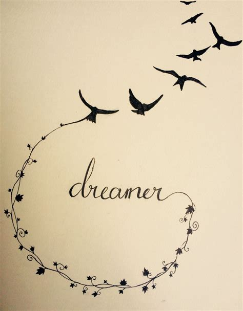 dreamer tattoo design i m just another dreamer who got lost in reality