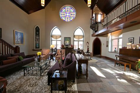 Home Architecture 101 Gothic Revival Living Room Church