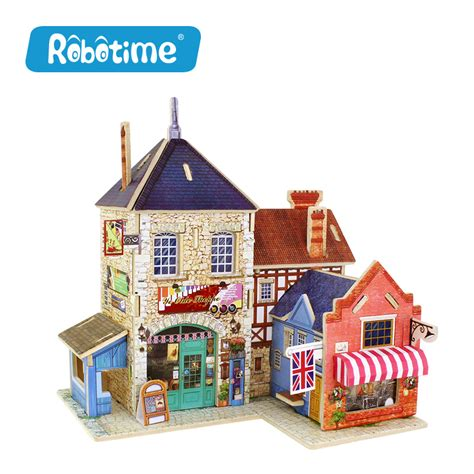 gift for home decoration robotime wooden woodcraft construction kit assemble diy
