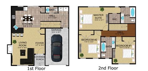 Townhome Floor Plan Designs Townhouse Floor Plans With Garage Schoolhouse Luxury