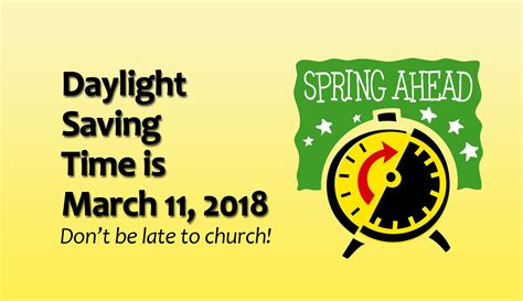 Early Daylight Savings Changes by United Methodist Church Alvord 187 Daylight
