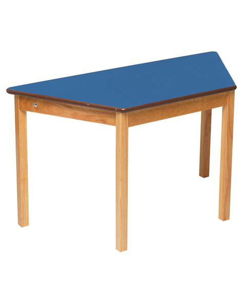 tuf class children s trapezoidal wooden table blue