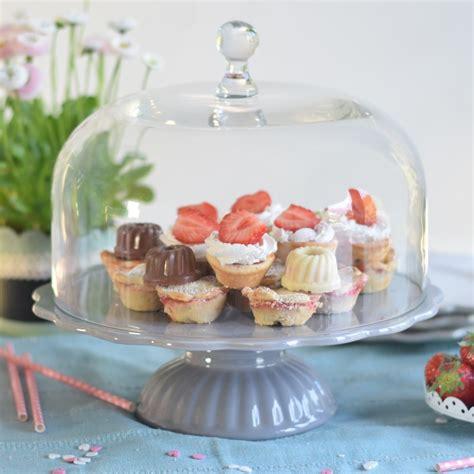 ib laursen tortenplatte mynte  grau mit glashaube cake