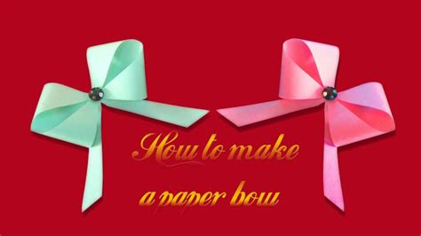 How To Make Ribbon Paper - how to make a paper ribbon bow easy origami bow paper
