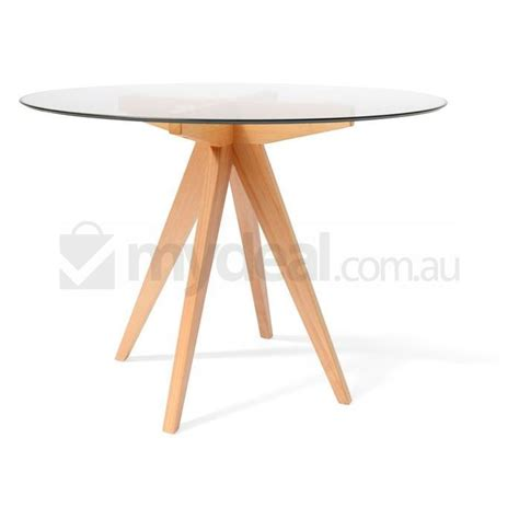 arrow 100cm dining table with glass top buy dining