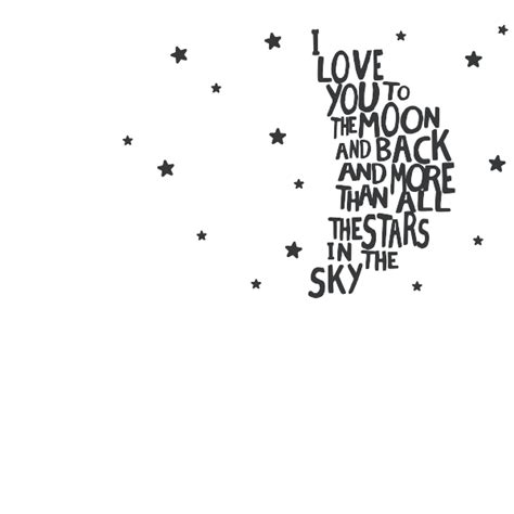 Kitchen Wallpaper Borders Ideas Moon And Back Wall Quote Decal
