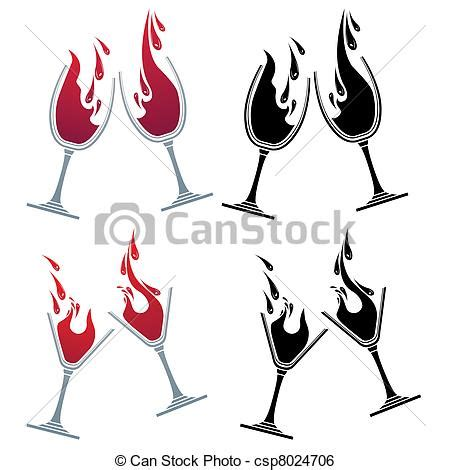 martini glasses clinking clip art vector of glasses with different drinks colour