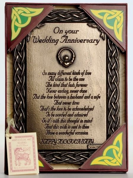 Irish Bronze Blessings   Bronze Wedding Anniversary