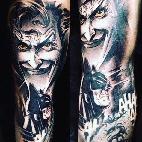 iconic tattoo designs collection of 25 batman n joker design