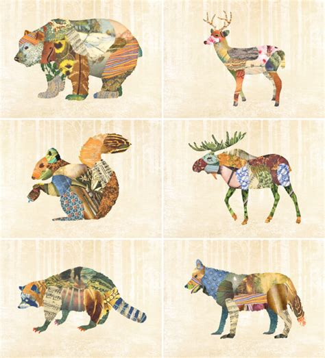 Deer Baby Nursery by Weathered Woodland Creatures Going Home To Roost