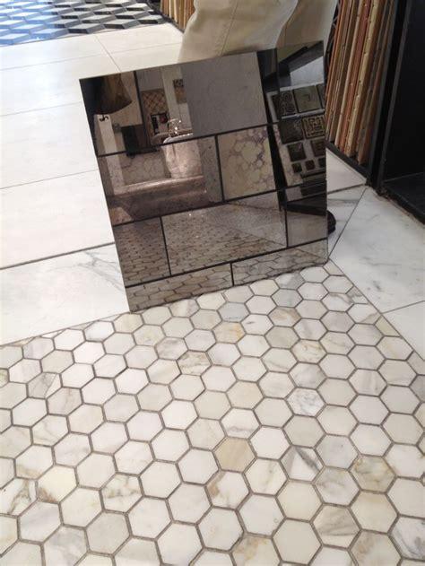 honeycomb bathroom floor tiles ann sacks tile with calcutta gold marble chevron tile
