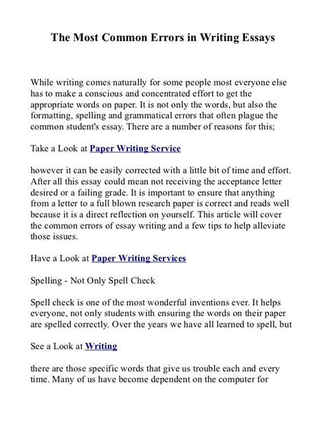 Punctuation Essay by Common Grammar Mistakes In Essay Writing Grammar Mistakes In Essay Writing