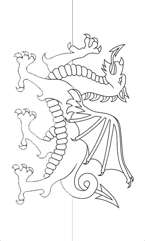 welsh dragon coloring page welsh icons news the welsh flag