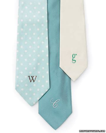 personalized necktie martha stewart
