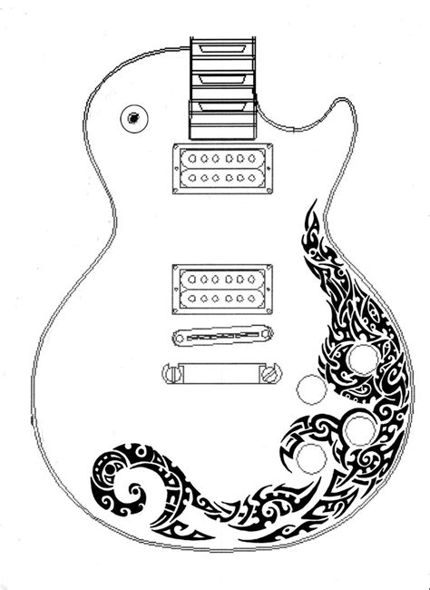 les paul guitar tattoo designs les paul guitar tribal design by annikki on deviantart