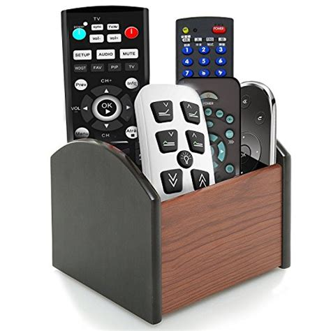 rotating bed with remote control rotating remote holder caddy coideal revolving wooden 4 compartment desktop office