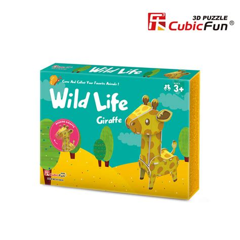 Promo Cubic Puzzle 3d Series Giraffe 3d puzzle giraffe difficulty 3 8 cubic k1503h 14 pieces jigsaw puzzles animals