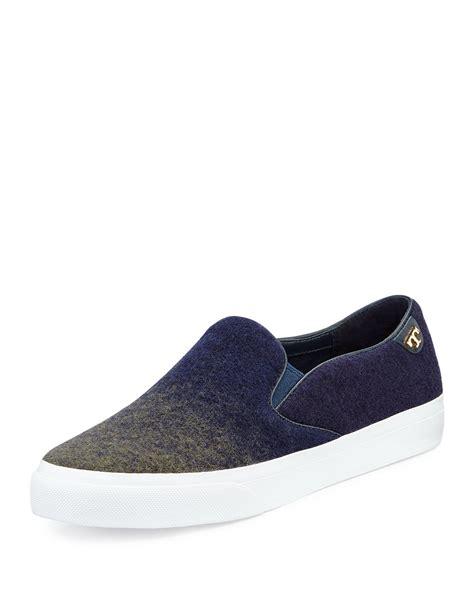 burch slip on sneaker lyst burch rudi ombre slip on sneaker in blue
