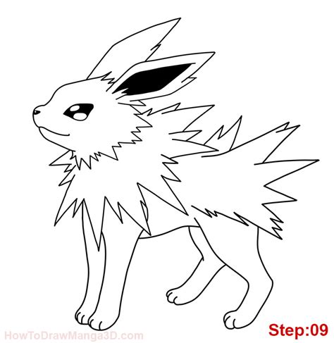 pokemon coloring pages jolteon how to draw jolteon pokemon mangajam com