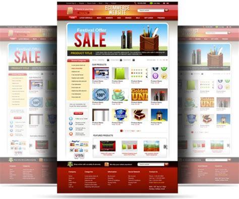 ecommerce website templates psd free psd ecommerce website template psd file free