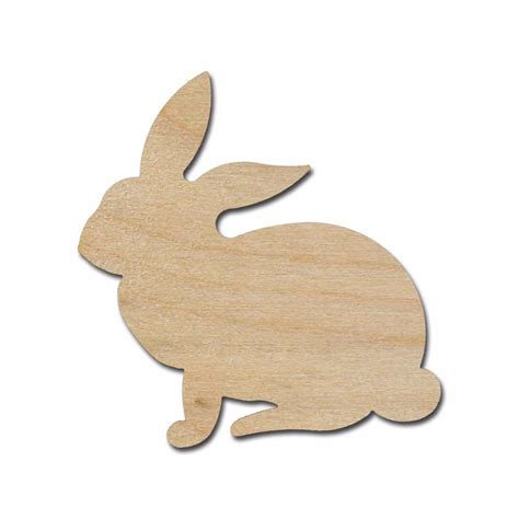 rabbit in woodworking rabbit shape wood cut out unfinished wooden easter bunny