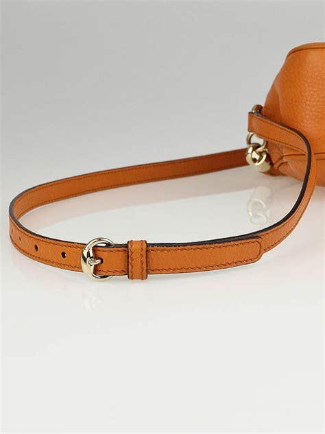 Gucci Ns Leather Orange gucci orange pebbled leather soho disco shoulder bag yoogi s closet
