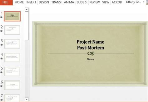 post mortem template powerpoint project post mortem powerpoint template