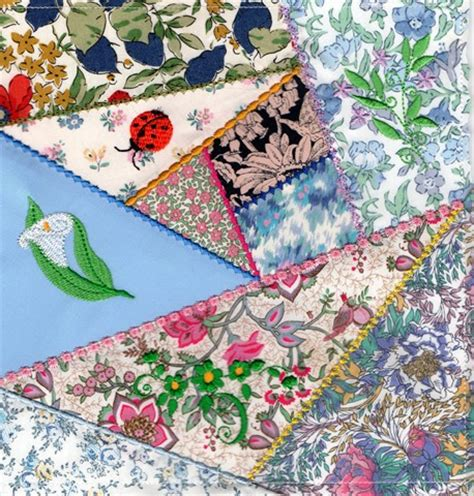 Patchwork Embroidery - bom ith patchwork block1 embroidery design by tte