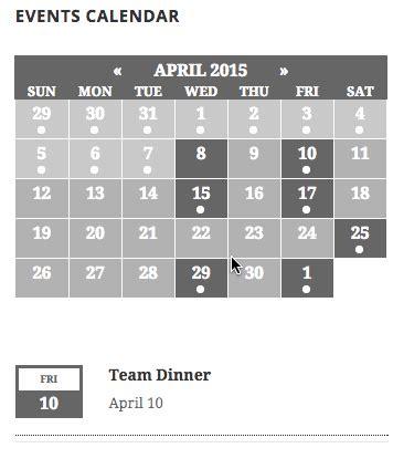The Events Calendar Configuring The Calendar Widget The Events Calendar