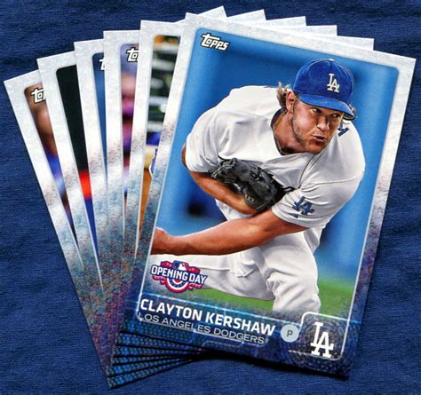 Dodgers Gift Card - 2015 topps opening day los angeles dodgers baseball cards team set