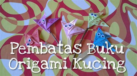 Buku Origami - diy pembatas buku origami kucing my crafts and diy