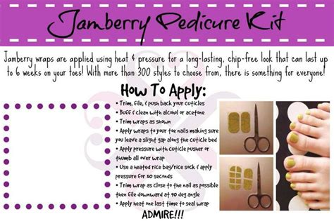 printable jamberry instructions jamberry pedi pack http adriennesjams jamberrynails net