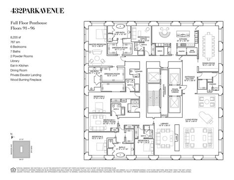 building floor plans nyc 432 park avenue penthouse macklowe properties