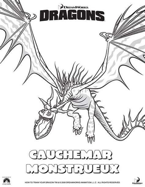 Coloriage Dragons Cauchemar Monstrueux Coloriage Astrid Et Les Dragons L