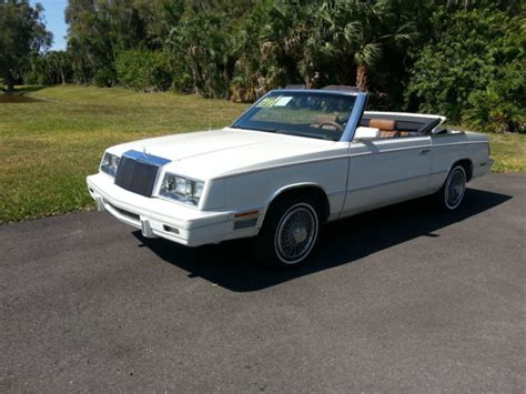 1984 Chrysler Lebaron by 1984 Chrysler Lebaron Cross Convertible