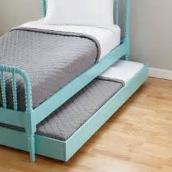 trundle bed with mattress teal lind trundle bed the land of nod